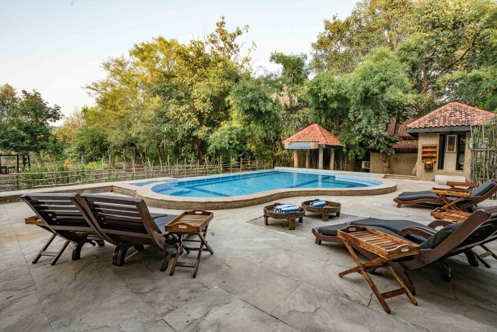 Pool at Kings Lodge Bandhavgarh National Park