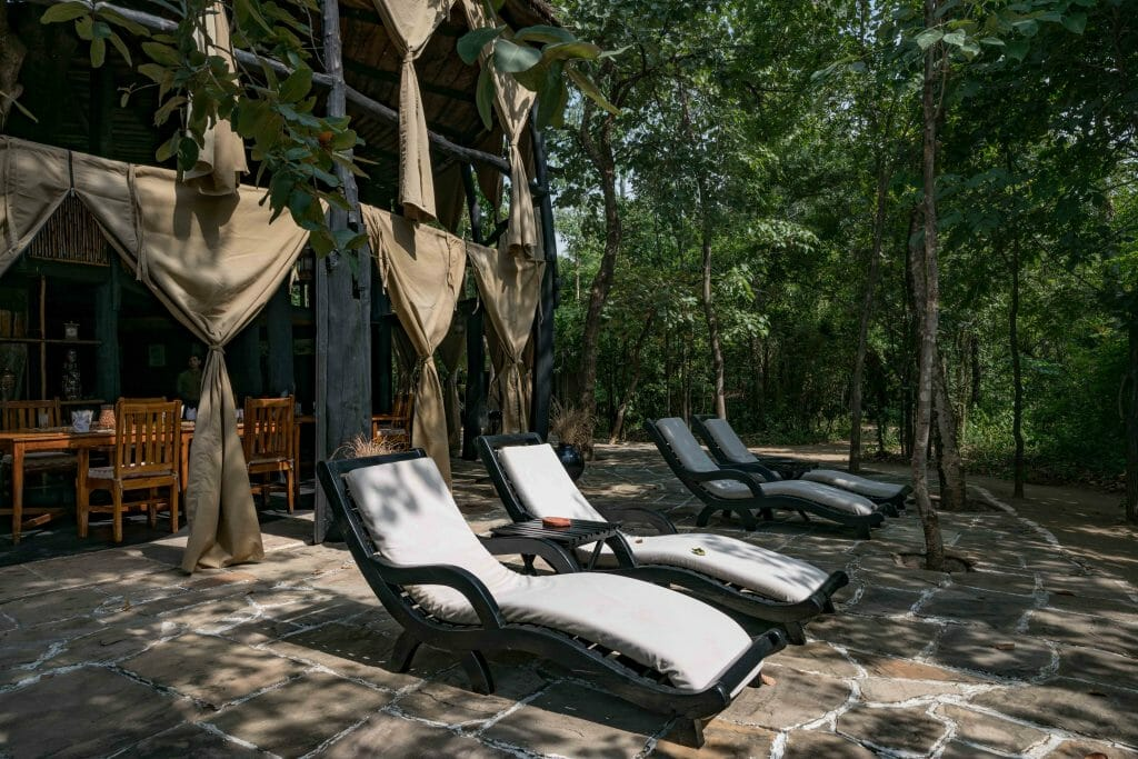 Sun chairs at Bandhavgarh Resort Treehouse Hideaway