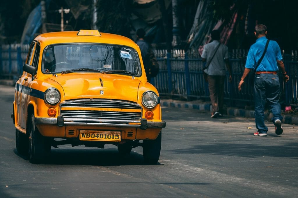 Yellow Taxi in India